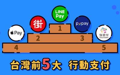2020台灣前5大支付排名:Line pay 攻下王座,全聯Px pay 衝進 前3!